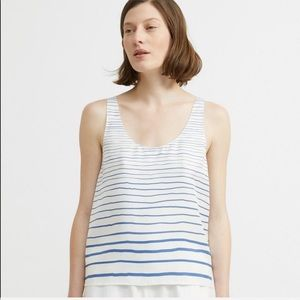 NEW Theory Striped Scoop Tank Top